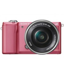 Sony Alpha A5000 ILCE-5000L with 16-50mm Lens Pink Mirrorless Digital Camera