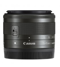 Canon EF-M 15-45mm f/3.5-6.3 IS STM Graphite Black Lens (White Box)