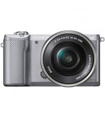 Sony Alpha A5000 ILCE-5000L with 16-50mm Lens Silver Mirrorless Digital Camera
