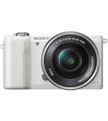 Sony Alpha a5000 with 16-50mm Lens White Mirrorless Digital Camera