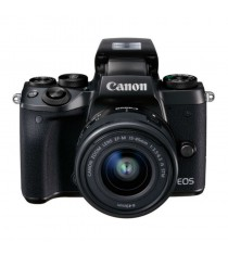 Canon EOS M5 with EF-M 15-45mm f/3.5-6.3 IS STM Lens Black Digital SLR Camera (Kit)