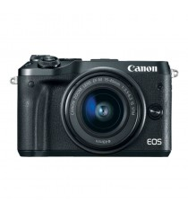 Canon EOS M6 with EF-M 15-45mm f/3.5-6.3 IS STM Lens (Black)