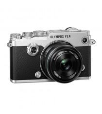 Olympus PEN-F with 17mm f1.8 Lens Silver Digital Mirrorless Camera