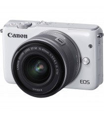 Canon EOS M10 with EF-M 15-45mm f/3.5-6.3 IS STM Lens (White)
