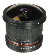 Samyang 8mm f/3.5 Fish-eye CS II with hood (Canon) Lens