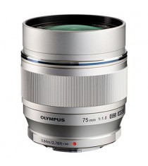 Olympus M.Zuiko Digital ED 75mm f/1.8 Silver Lens