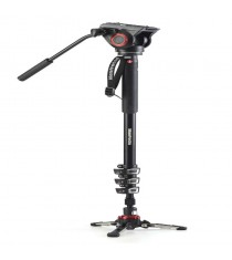 Manfrotto XPRO Monopod+ MVMXPRO500 Four-Section Aluminum with Fluid Video Head