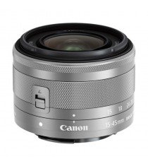 Canon EF-M 15-45mm f/3.5-6.3 IS STM Silver Lens (White Box)