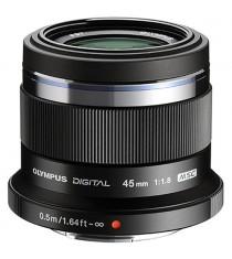 Olympus M.ZUIKO DIGITAL ED 45mm f/1.8 Black Lens