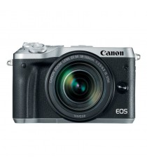 Canon EOS M6 Mirrorless with EF-M 18-150mm f/3.5-6.3 IS STM Lens Silver