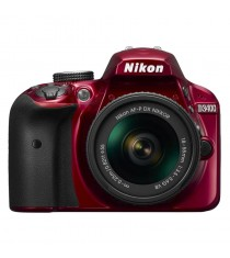 Nikon D3400 Red Digital SLR Camera with 18-55mm VR Lens