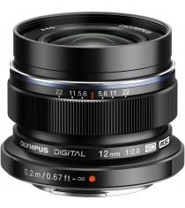 Olympus M.Zuiko Digital ED 12mm f/2.0 Black Lens