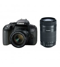 Canon EOS 800D Kit with 18-55mm and 55-250 f/4-5.6 IS STM Lenses Black Digital SLR Camera